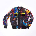 Man Polyester all-over print jas